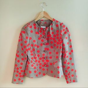 NWOT MOSCHINO Polka Dot Blazer with Round Buttons